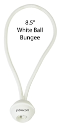"Premium Quality White Ball Bungee 8.5"" 50 pcs"