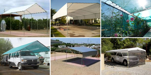 tarps garage shelters duty garages heavy rv covers canvasmart tarp portable